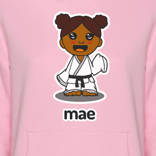 Sudadera rosa Mae detalle 1