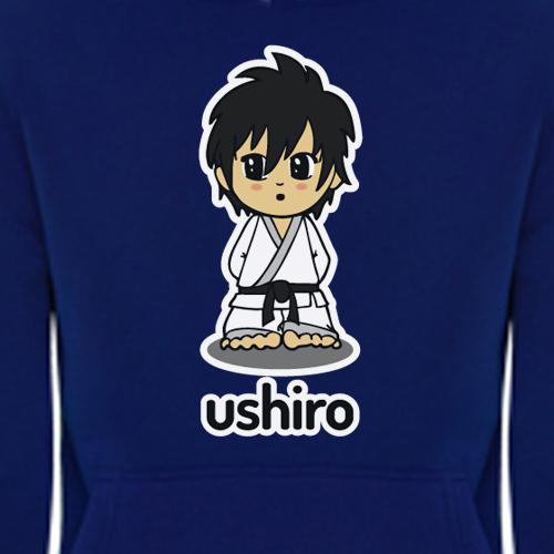 Sudadera Azul Ushiro detalle 1
